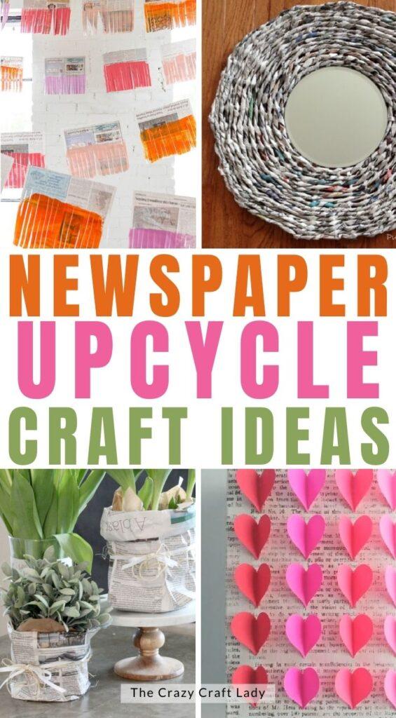Newspaper Upcycle Craft Ideas