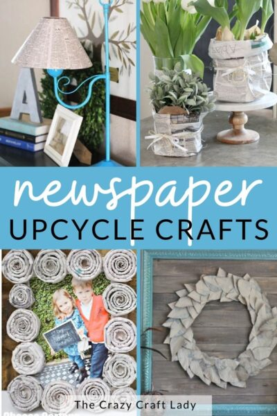 Newspaper Upcycle Crafts
