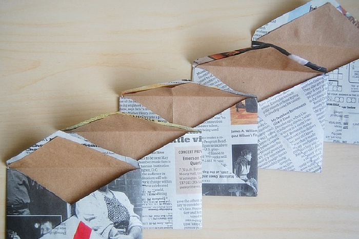 Recycled Newspaper Envelopes With Brown Bag Liners