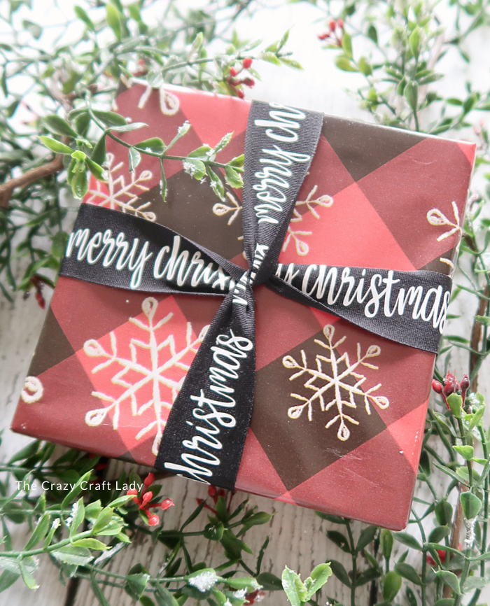 customized Christmas ribbon with heat transfer vinyl
