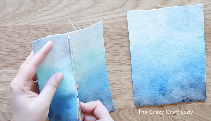 cut the fabric into strips