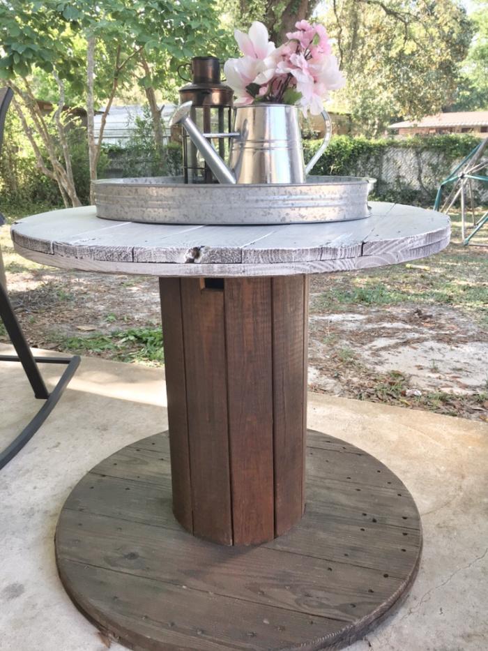 giant spool patio table