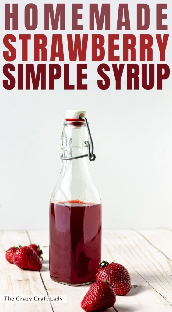 homemade strawberry simple syrup