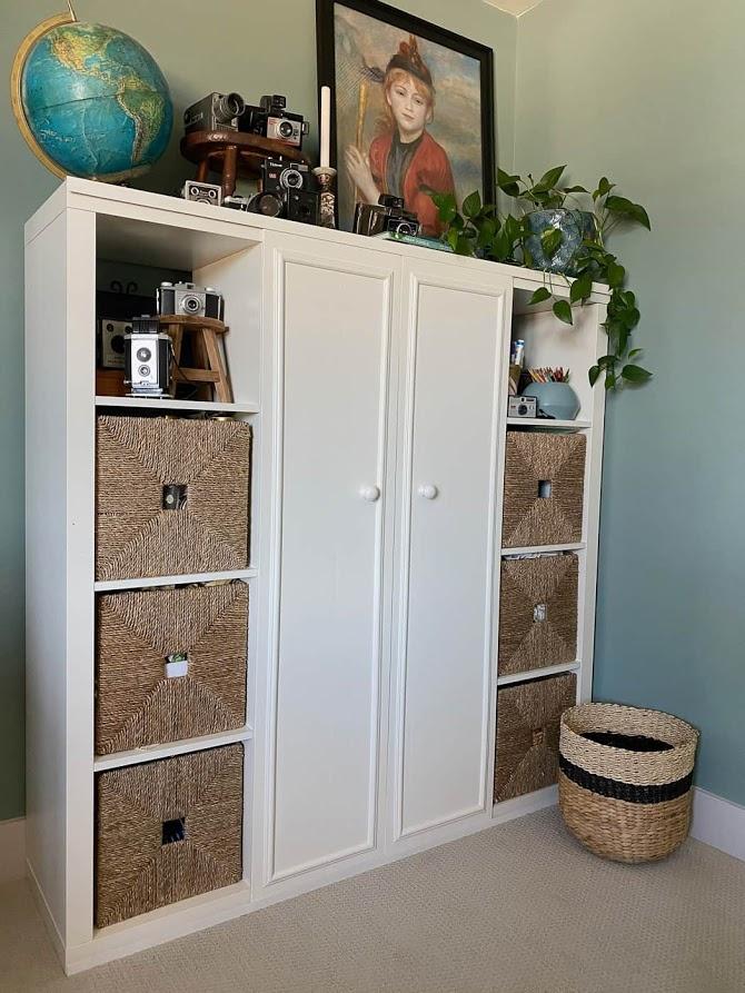 Add Sliding Doors To Cube Shelves