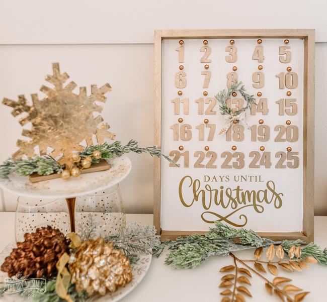 Christmas Countdown Calendar With Dollar Store Supplies