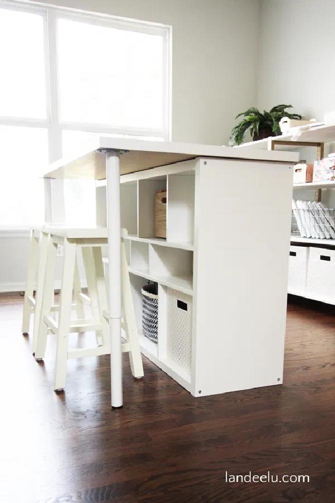 Craft Room Work Table Ikea Hack