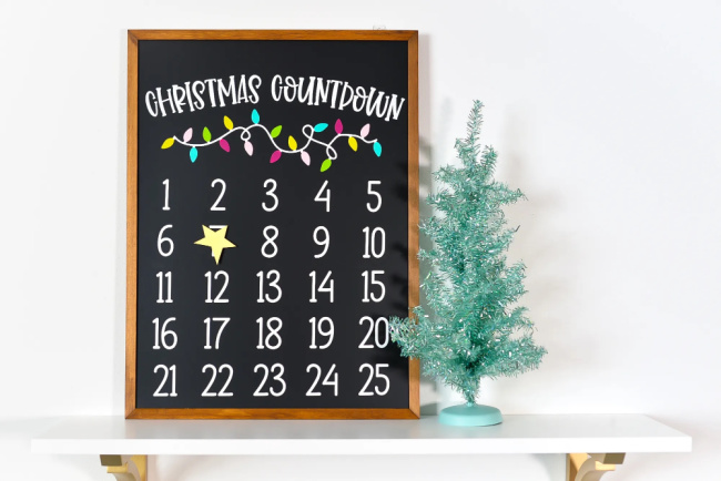 DIY Christmas Countdown Calendar With The Cricut
