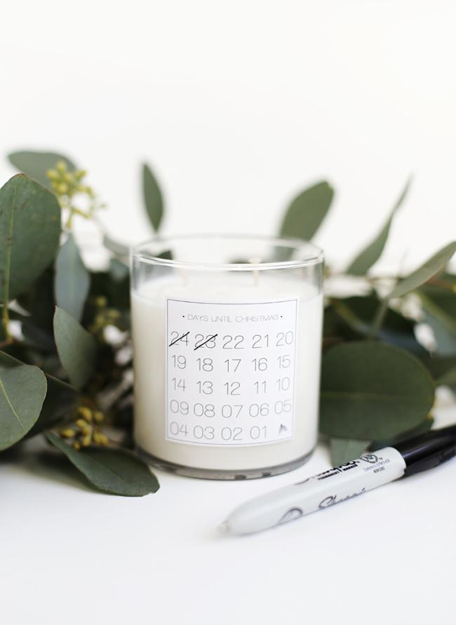 DIY Christmas Countdown Candle