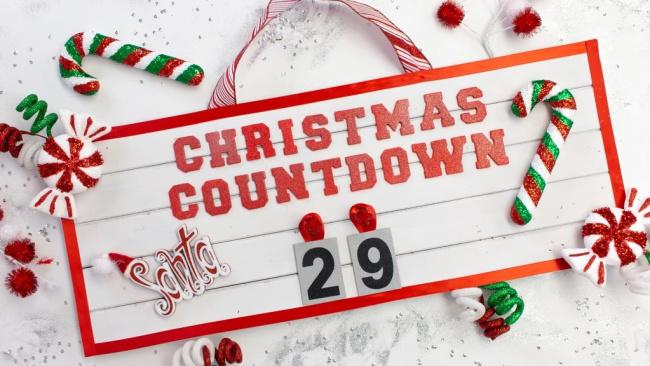 DIY Christmas Countdown Sign