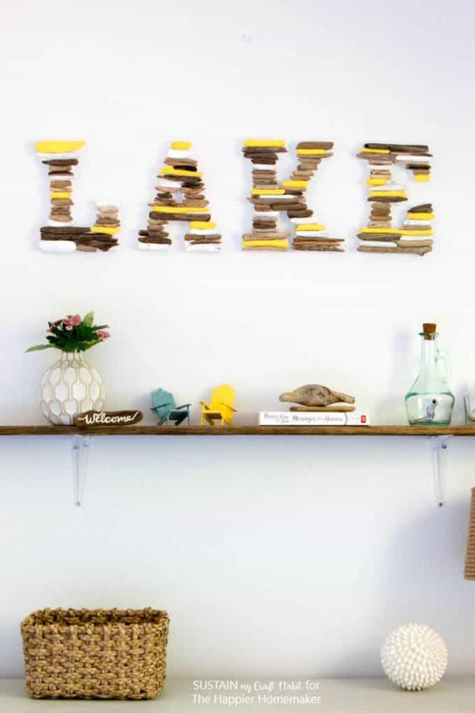 DIY Driftwood Letter Art