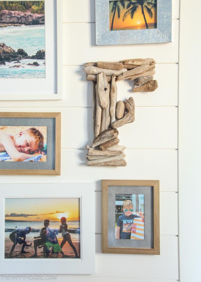 DIY Driftwood Letter