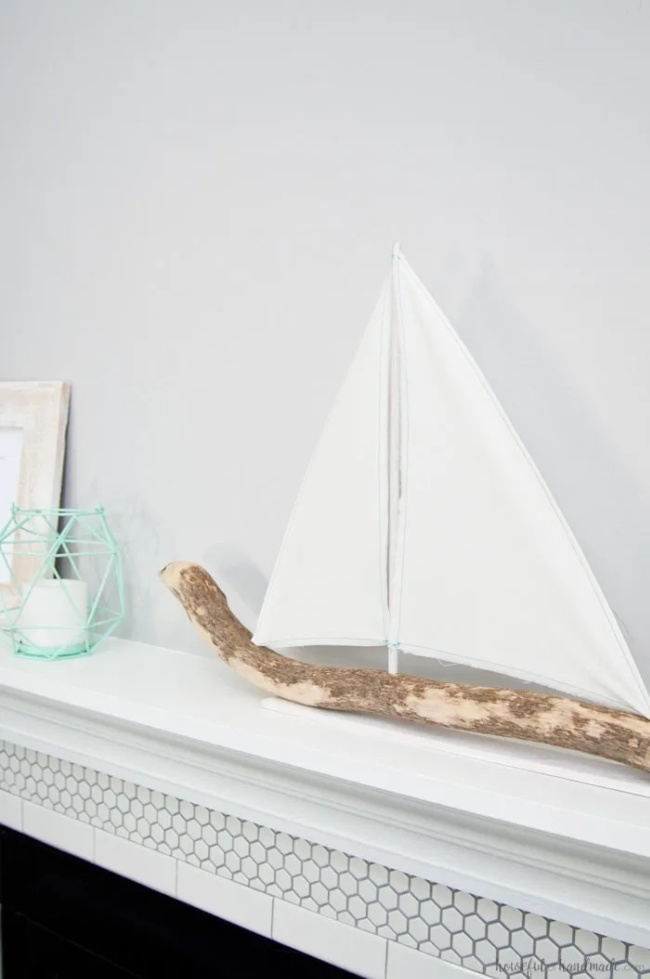 DIY Driftwood Sailboat Décor