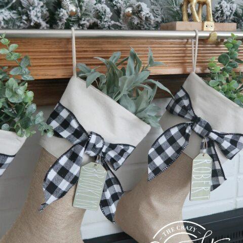 DIY Farmhouse Christmas Stockings