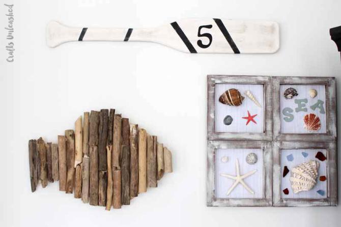 DIY Fish Décor Using Driftwood