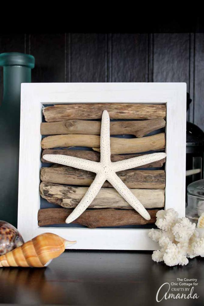 Driftwood & Starfish Nautical Art