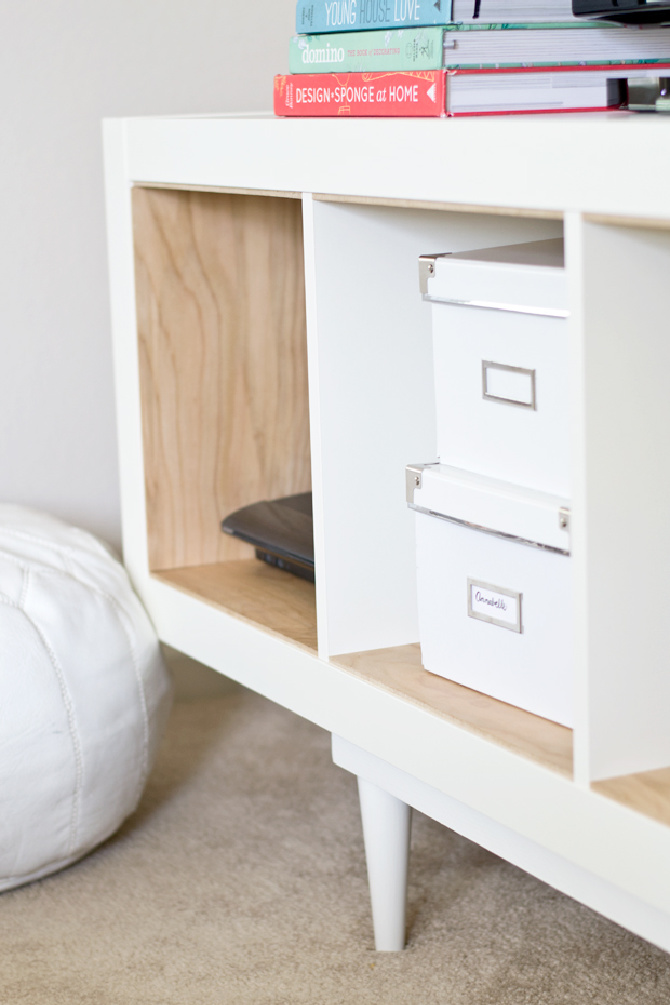 Ikea Hack Shelving Unit To TV Stand