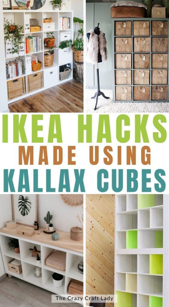 Ikea hacks made with Kallax cubes