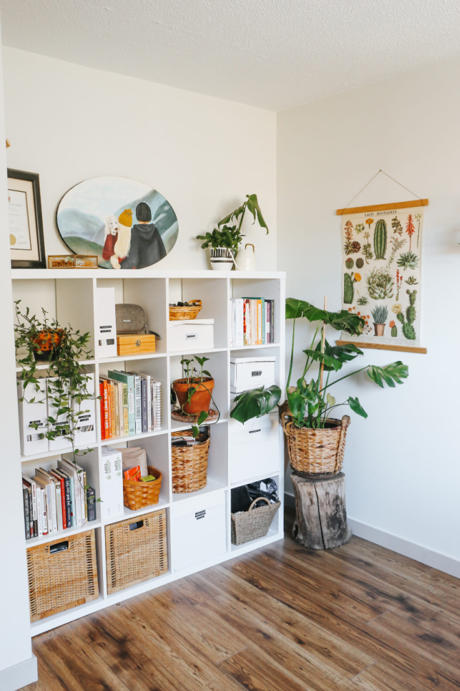 Office Storage With Kallax Shelves
