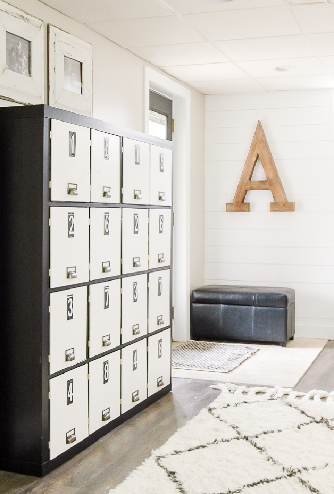 Turn A Bookcase Into Lockers