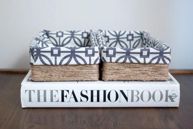 Transformar uma caixa de tecido em uma caixa de armazenamento decorativa faça você mesmo