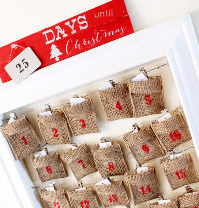 Wood Shim DIY Christmas Countdown Sign