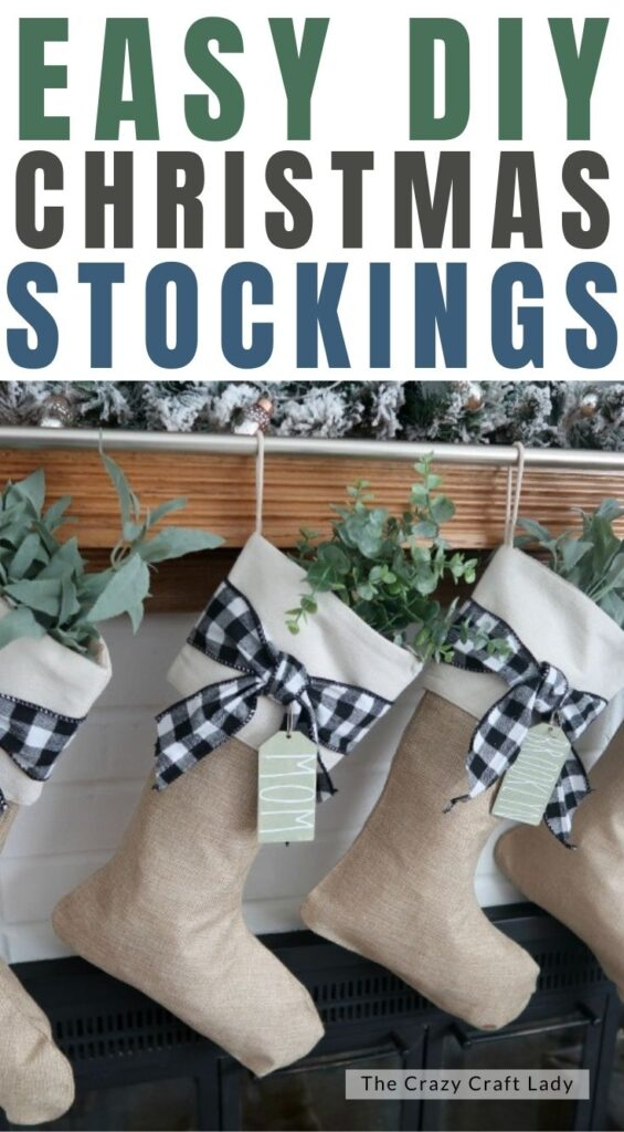 easy DIY Christmas stockings