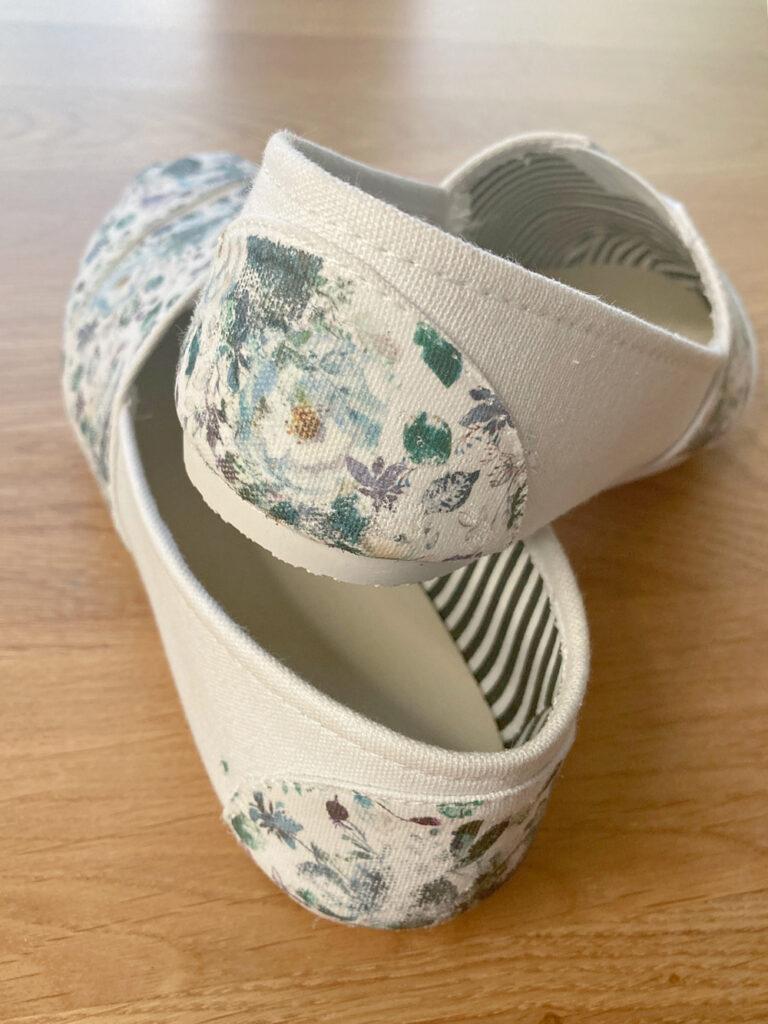 floral canvas shoe craft project