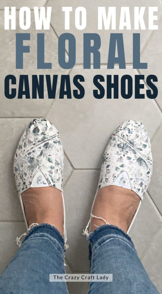 how to make floral canvas shoes