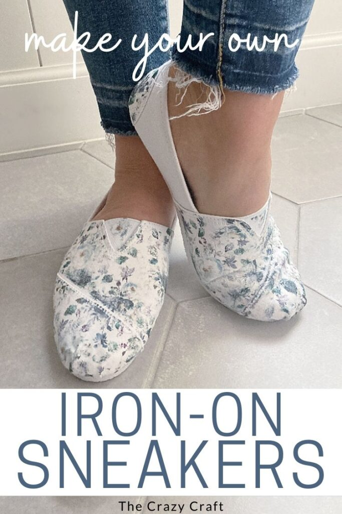 how to make iron on floral sneakers
