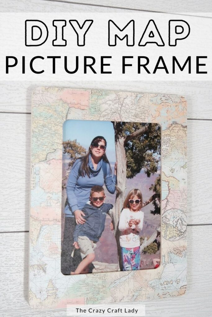 DIY map picture frame