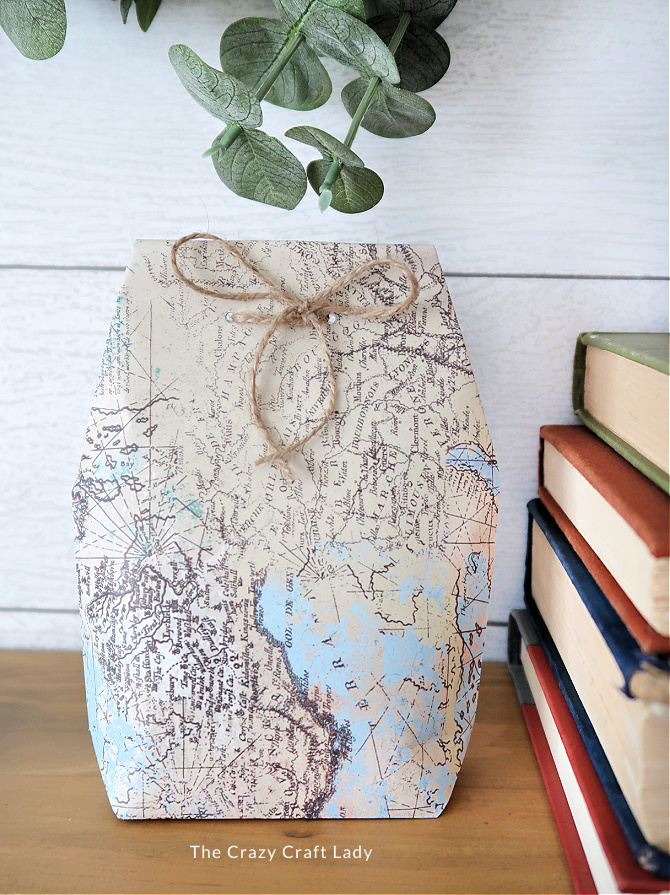DIY scrapbook paper gift bag