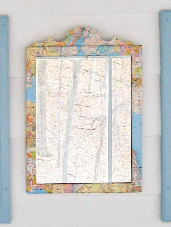 How To Make A DIY Map Mirror