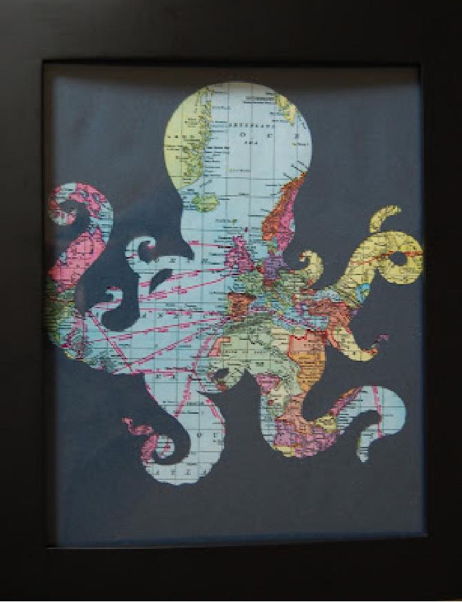 Octopus Frame Print