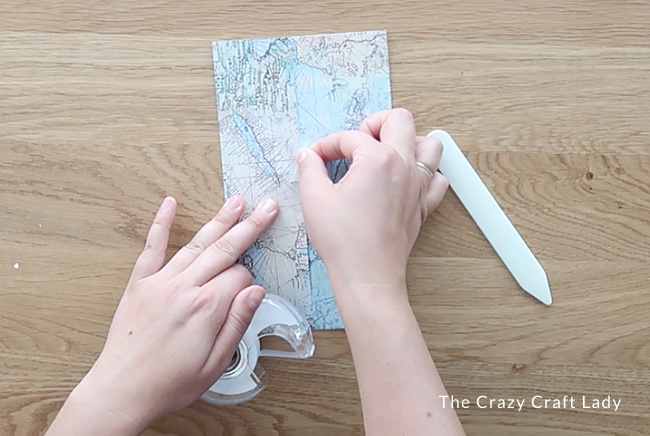 Secure the paper seam with tape