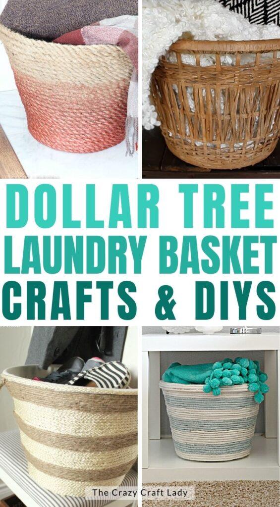 dollar tree laundry basket crafts and diys