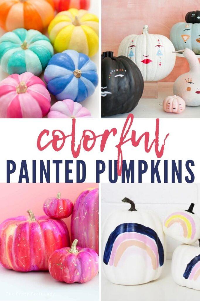 Colorful Painted Pumpkins