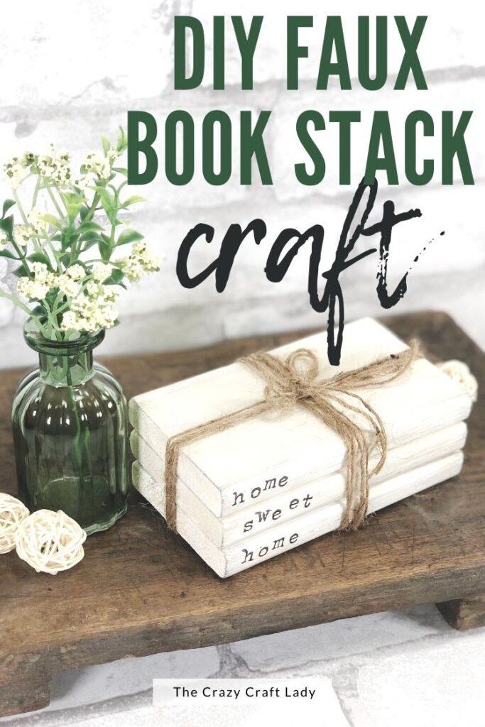 DIY faux book stack craft