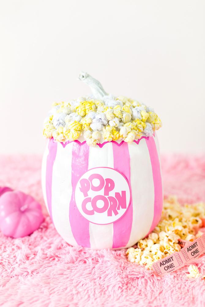 No-Carve Popcorn Pumpkin