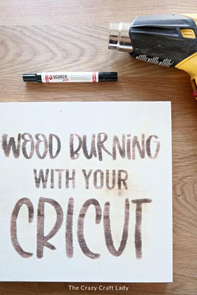 Wood Burning with Cricut