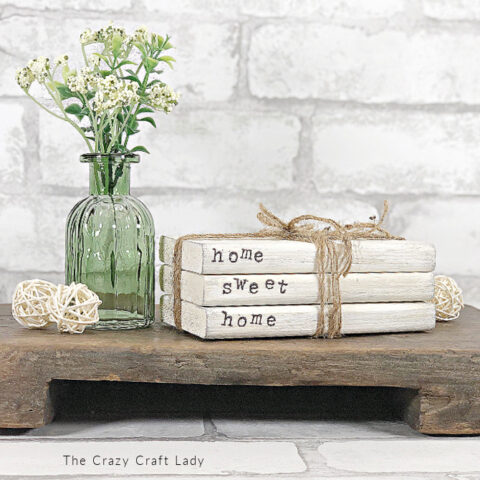 farmhouse style book stack craft