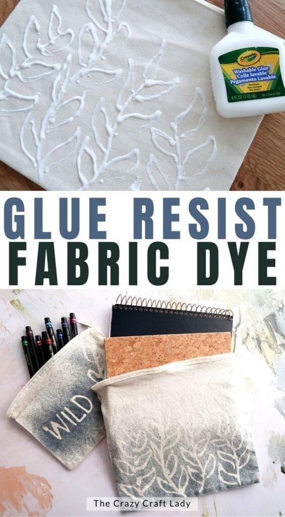 glue resist fabric dye