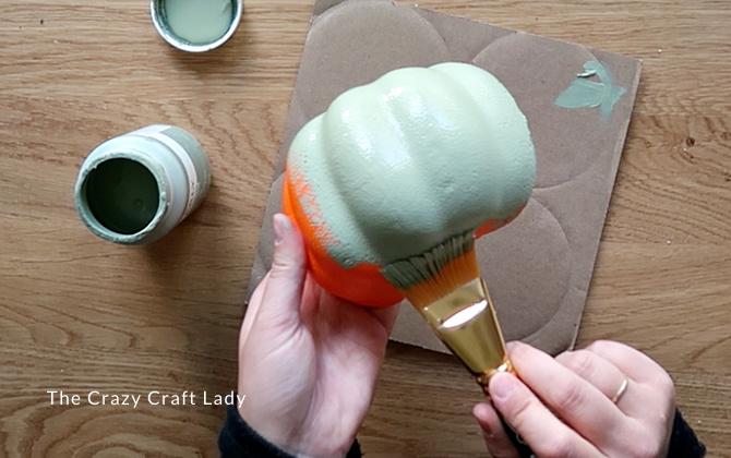 paint the pumpkin half