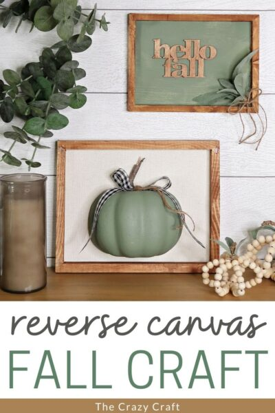 reverse canvas fall craft