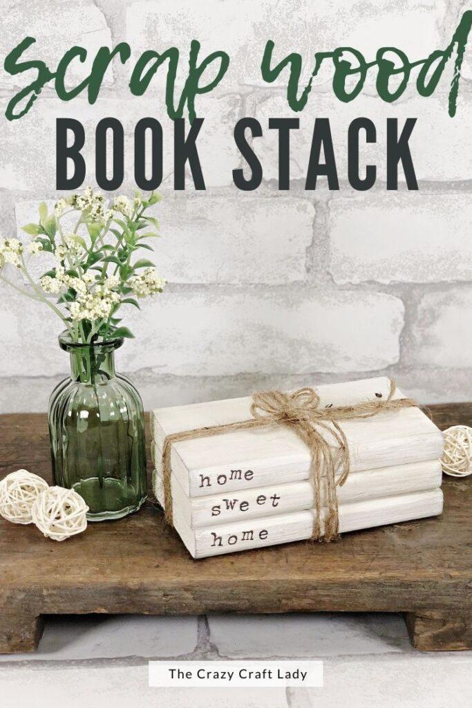 scrap wood book stack