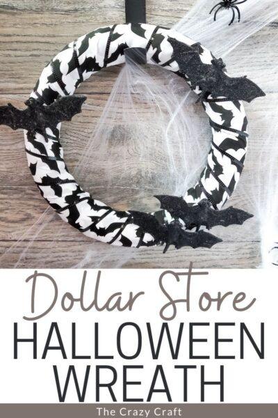 Dollar Store Halloween wreath.