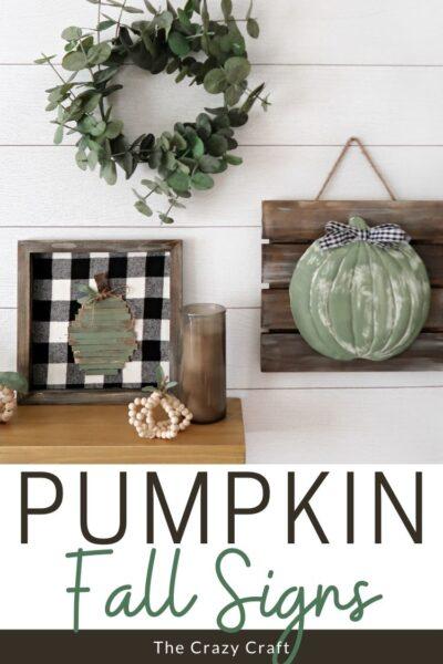 Fall Pumpkin Signs