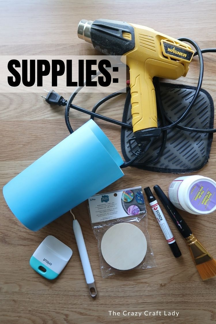 Supplies for Wood Burning with Cricut