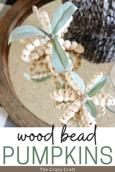 Wood Bead Pumpkins