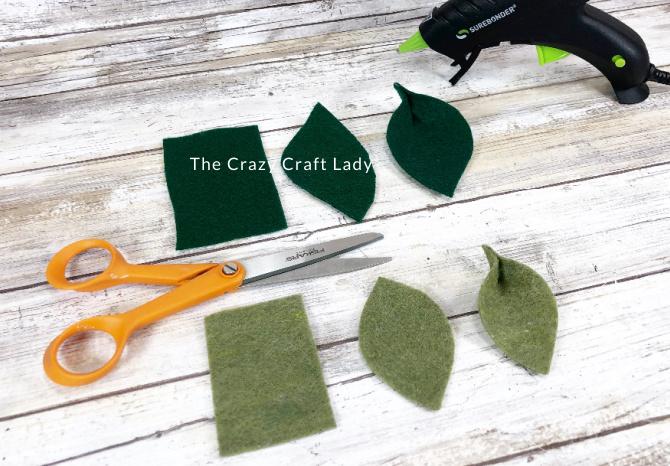 cut felt leaves