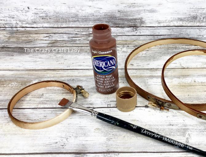 paint the wood hoops brown